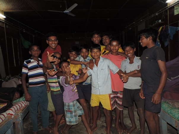 Avinash with his kids during free time!